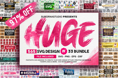 THE HUGE BUNDLE 565 SVG DESIGN 33 Different BUNDLE SVG Designangry