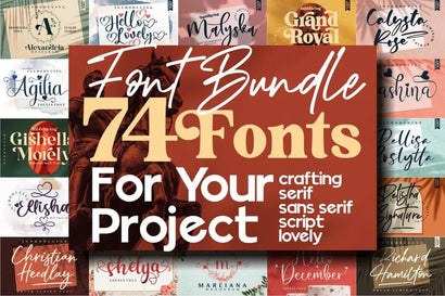 The Massive Font 74 Fonts ALL STYLE, LIMITED TIME OVER !!! Font Letterena Studios