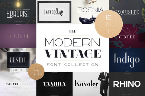 The Modern Vintage Font Collection Font VPcreativeshop