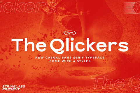 The Qlickers - Casual Sans Serif Font Font StringLabs