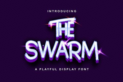 The Swarm - Playful Display Font Font StringLabs