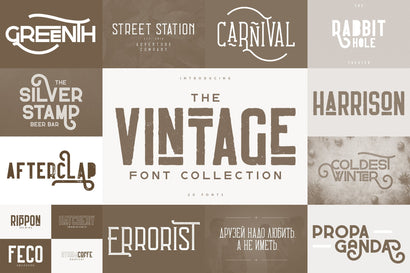 The Vintage Font Collection Font VPcreativeshop