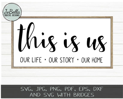 This Is Us SVG Cut File and Printable SVG JoBella Digital Designs