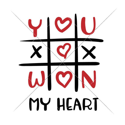 Tic Tac Toe - You won my Heart SVG Chameleon Cuttables