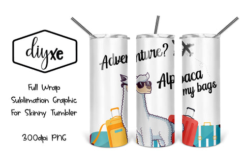 Travel Sublimation Graphics For Skinny Tumblers Sublimation DIYxe Designs