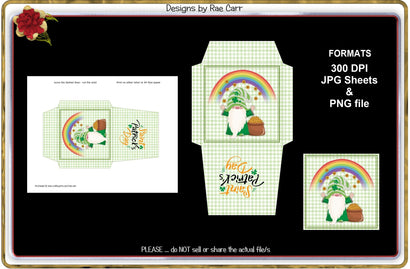 Treat Packet St Patrick's Day PNG and Printable JPEG 3D Paper Designs by Rae