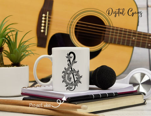 Treble clef, music design SVG Digital Gems