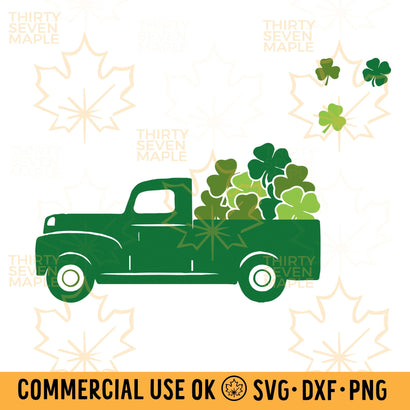Truck with Shamrocks SVG Thirty Seven Maple
