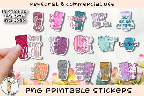 Tumbler Big Bundle Small Business Printable Stickers SVG The Pixel Llama