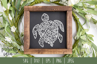 Turtle Mandala Zentangle SVG SavoringSurprises