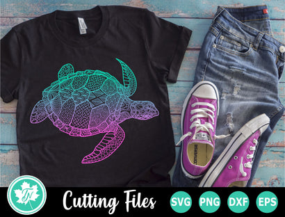 Turtle SVG | Zentangle SVG | Mandala SVG SVG TrueNorthImagesCA