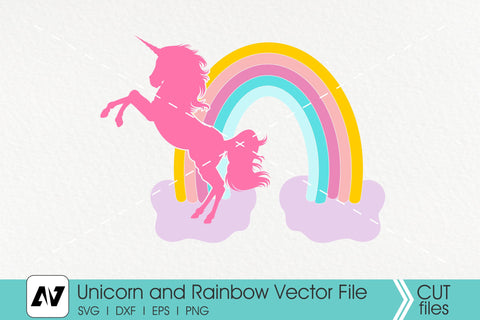 Unicorn Svg, Rainbow Svg, Unicorn Clip Art SVG Pinoyart Kreatib