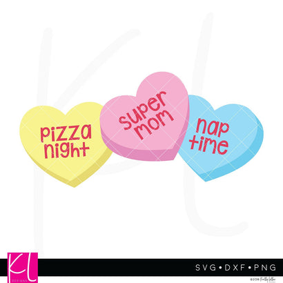 Valentine Mom Candy Hearts SVG Kelly Lollar Designs
