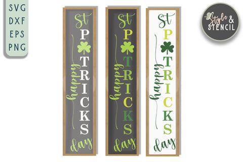 Valentine St. Pattys Vertical Sign Mini Bundle SVG SVG Style and Stencil