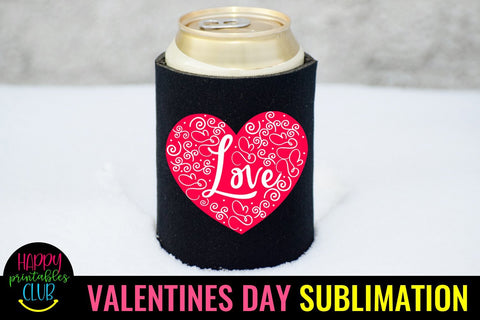 Valentine Sublimation- Valentines Day PNG- Love Heart Sublimation Happy Printables Club