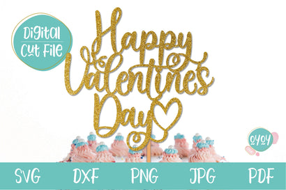 Valentine SVG | Happy Valentine's Day Cake Topper SVG SVG OyoyStudioDigitals