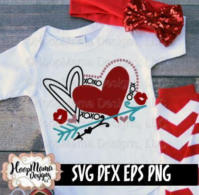 Valentines Day Heart SVG HoopMama