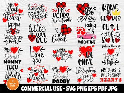 Valentine's SVG Bundle | Valentines Svg | Love Svg | Valentines cut files | Cut Files for Crafters | Cricut and Silhouette files | Heart Svg SVG TonisArtStudio