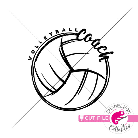 Volleyball coach sport svg png dxf SVG Chameleon Cuttables