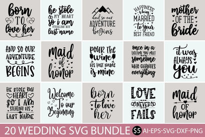 Wedding design SVG bundle SVG buydesign