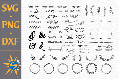 Wedding Ornament SVG, PNG, DXF Digital Files Include SVG SVGStoreShop