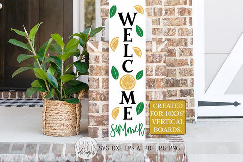 Welcome Summer SVG | Farmhouse Lemons Sign | DXF and more SVG Diva Watts Designs