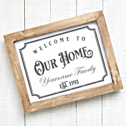 Welcome To Our Home Personalizable SVG File SVG Board & Batten Design Co