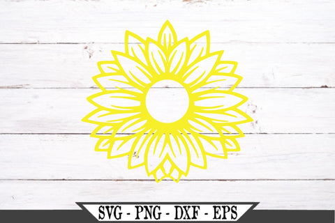 Wild Flower SVG Vector Cut File Sunflower SVG Vector Cut File SVG My Sassy Gifts
