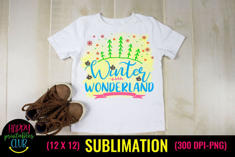 Winter Wonderland- Christmas Sublimation Design Ideas Sublimation Happy Printables Club