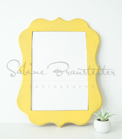 "Yellow Wood Sign Mockup ""Hello Yellow"" Styled Stock Photography Wood Frame Mock up Mock Up Photo SabineBPhotography"