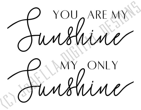 You Are My Sunshine SVG Cut File and Printable SVG JoBella Digital Designs