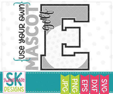 {Your Own} Mascot E Bundle - 10 SVG Cut Files SVG Sweet Kate Designs