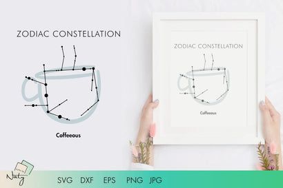 Zodiac constellation Coffeeous. SVG Arts By Naty