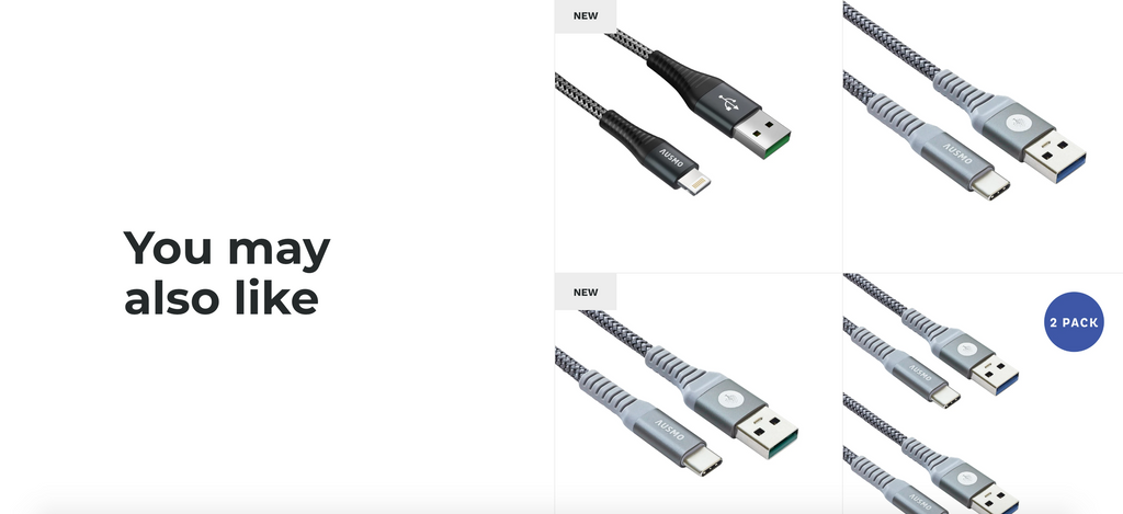product recommendations on an online electronics store