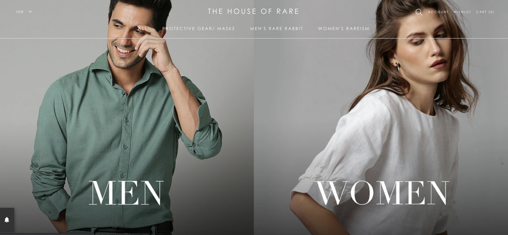house of rare on shopify