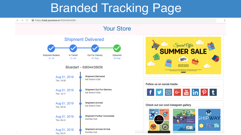 branded tracking page - best shopify apps