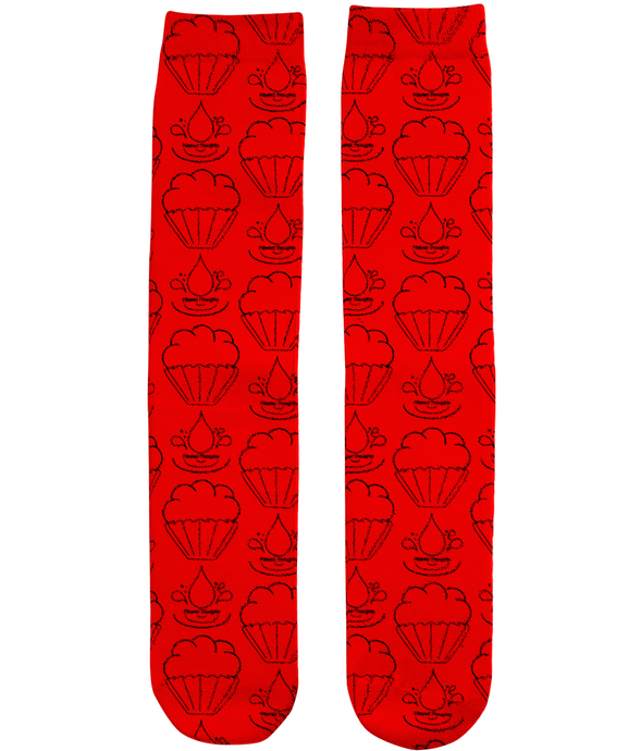 Filtered Thoughts Socks - Red