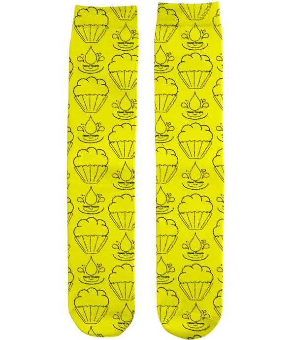 Filtered Thoughts Sock - Yellow