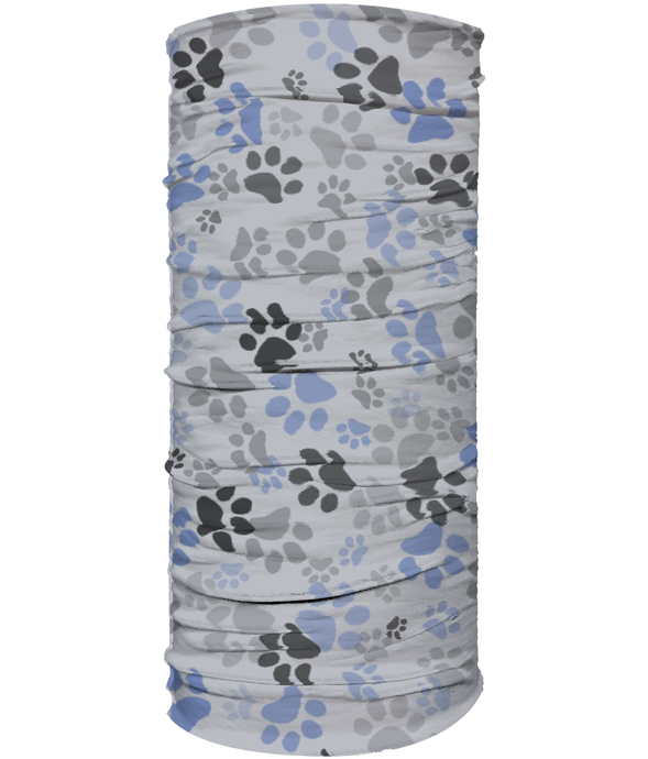 Multi Use Face Covering - Grey Paw Print