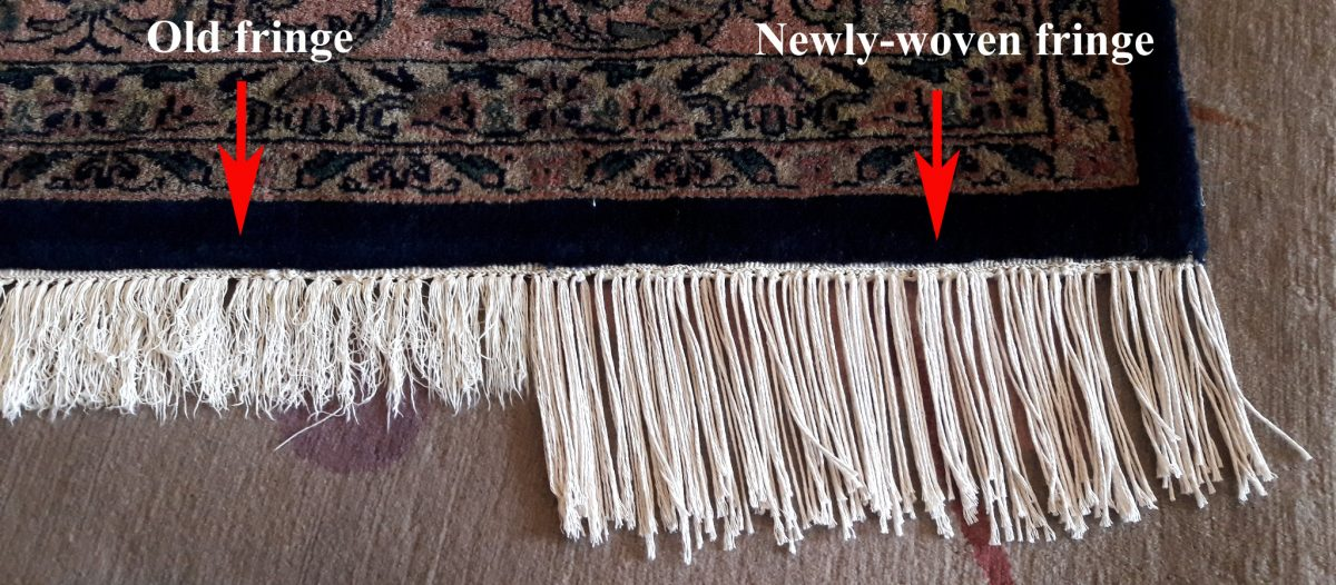 Rug Fringe Repair at Solomon's Rugs
