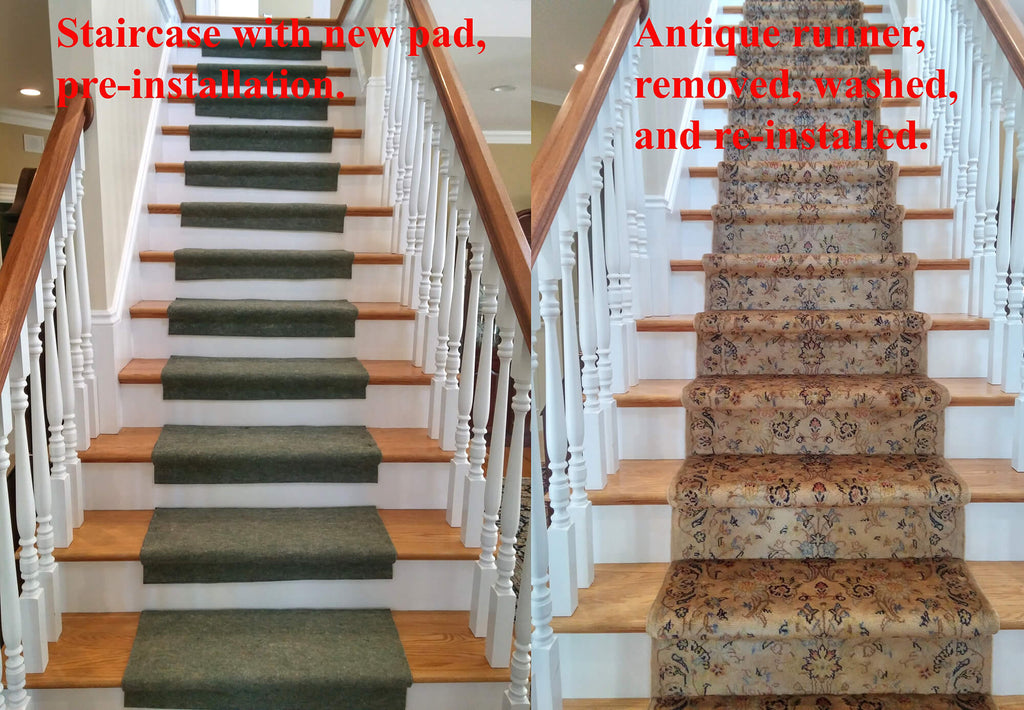 Solomon's Rug Staircase Runner Installation