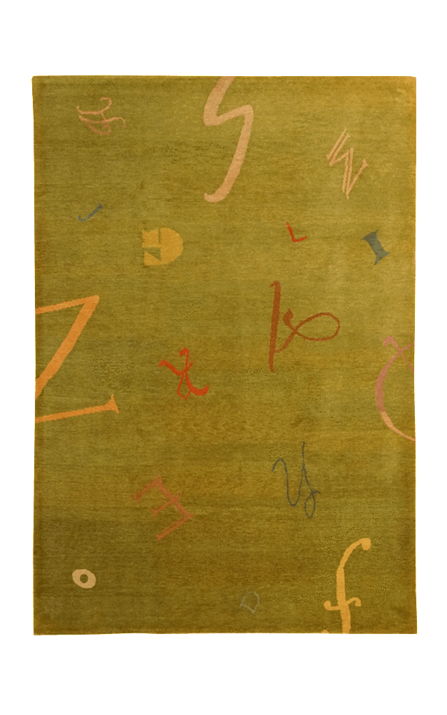 Tibet Alphabet Rug - Solomon's Collection & Fine Rugs