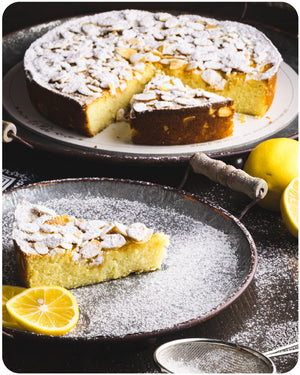 Lemon Almond Ricotta Cake by Di Pietro