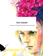 Fashion Faces Greeting Card Set