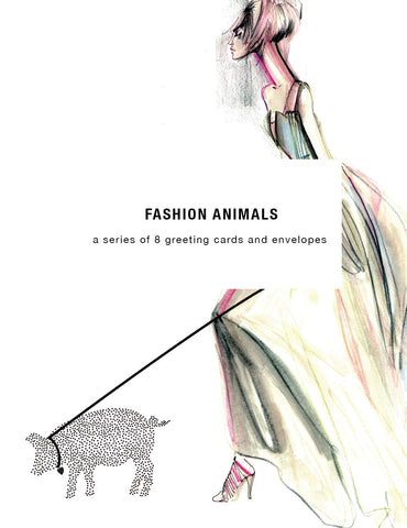Fashion Animals Greeting Card Set