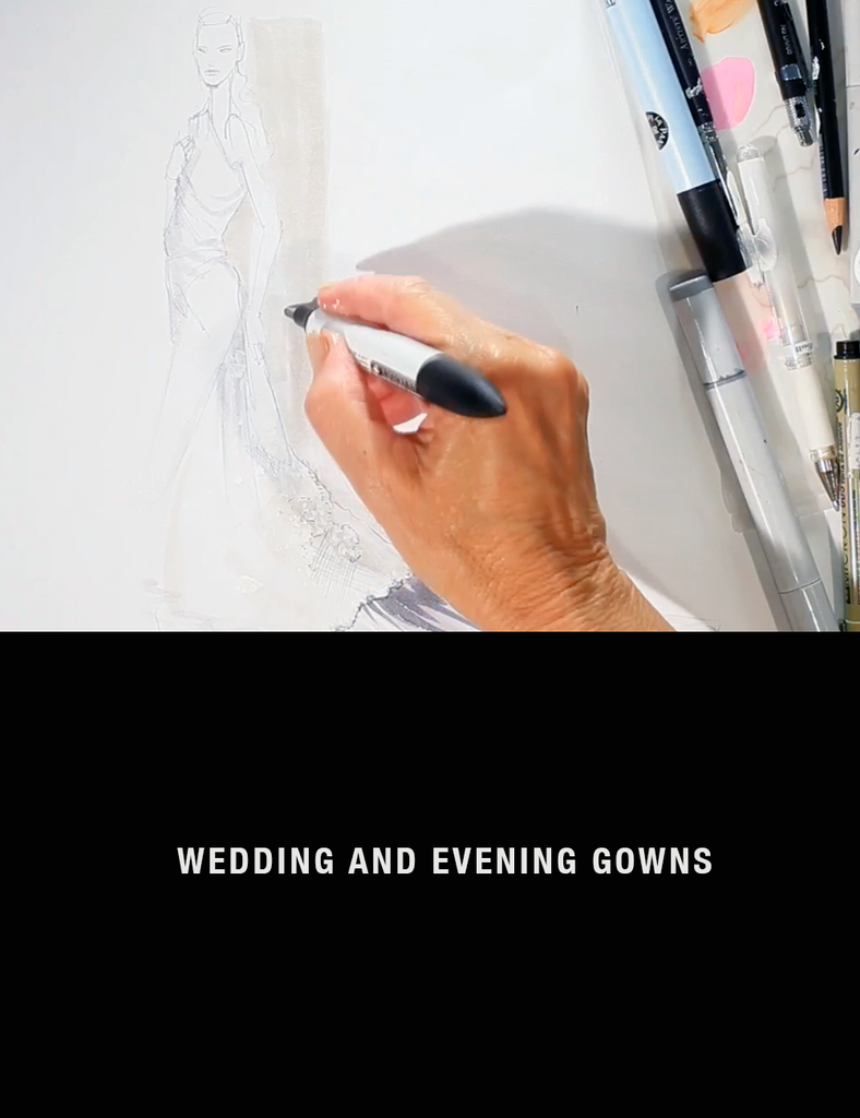 Fashion Drawing Sessions: Wedding and Evening Gowns with Nancy Riegelman