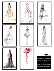 Fashion Wedding Greeting Card Set