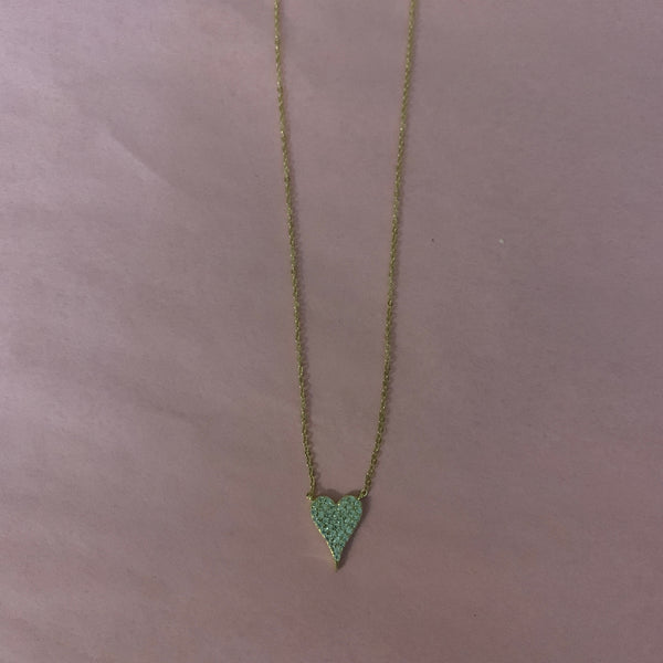 Mini CZ Heart Necklace
