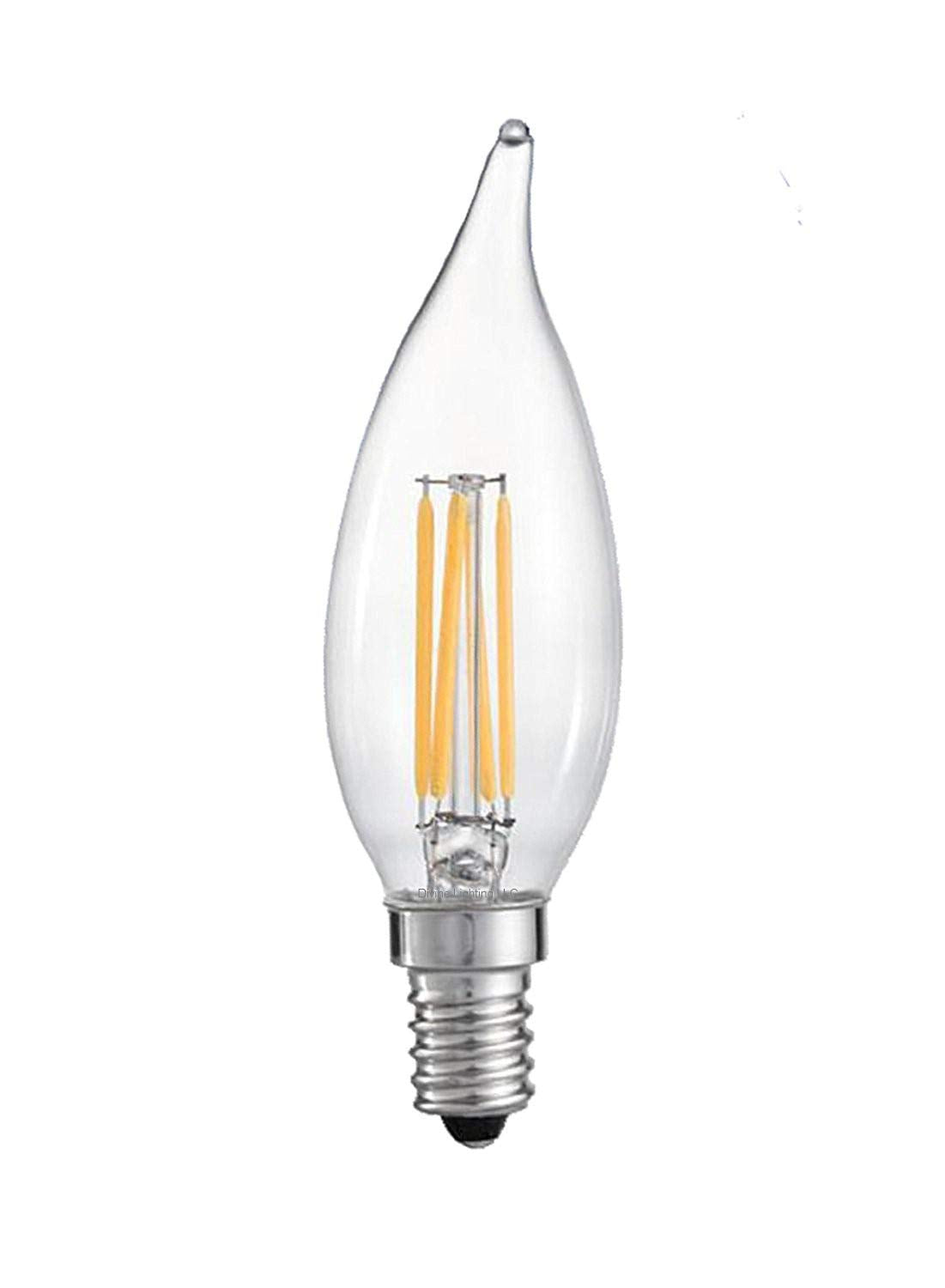 QPlus Edison Light Bulb B10 Twist Candelabra (4 Pack)