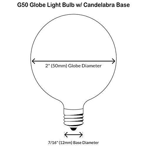 QPlus Frosted LED Light Bulb G50 3000K (6 Pack)